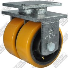 12 inch flat bottom fixed iron core polyurethane wheel